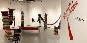 Installation shot of Weaving Together